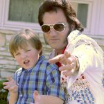 "Elvis impersonator and actor Breuer Bass -- ""Blue Suede Wings"""